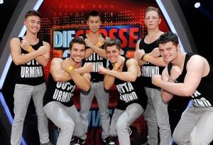 """Auch die Jungs der """"X Company"""" bekamen grünes Licht von der Jury. (c) ORF / Ali Sachafler"""