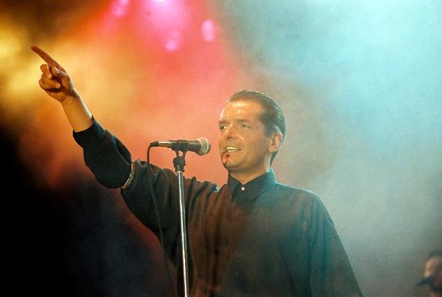 Falco beim legendären Konzert im Sommer 1993 auf der Donauinsel. (c) ORF/Johannes Cizek