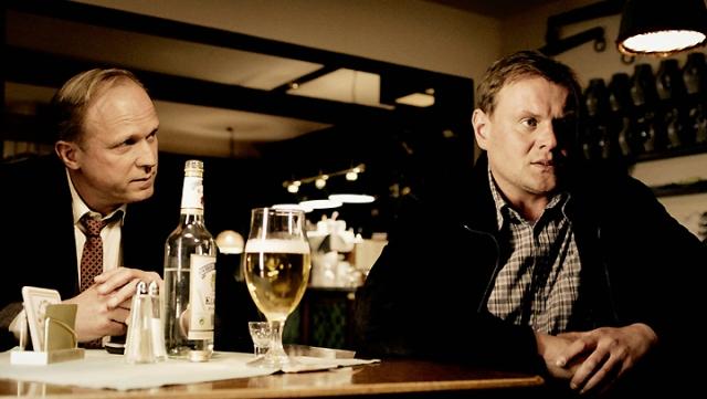 Kommissar Felix Murot (Ulrich Tukur) befragt Gernot Ulm (Devid Striesow). (c) HR/Carl-Friedrich Koschnick/ARD/Carl-Friedrich Koschnick